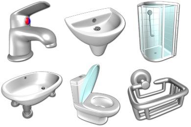 Скачать Bathroom Icons By Sirea