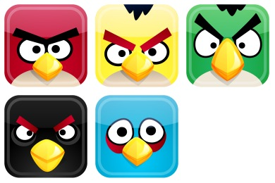Скачать Angry Birds Icons By Fasticon