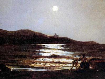 Вид из Санто Теренцо на Леричи ночью