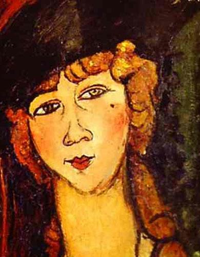 Голова женщины в шляпе