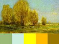 20 готовых цветовых палитр с лирических картин Саврасова