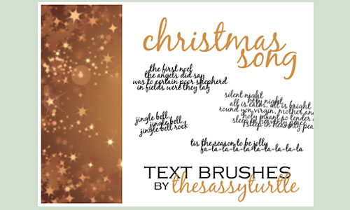 Скачать Christmas Song Text Brushes