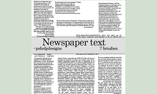 Скачать Newspaper text brushes
