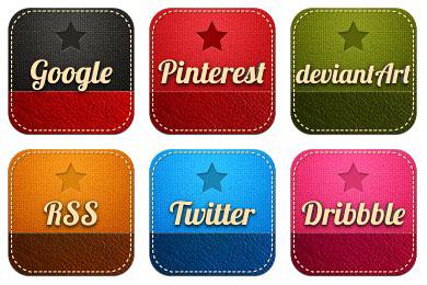 Скачать Retro Social Icons