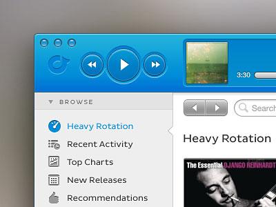 Перейти на Rdio Mac App Redesign