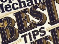 Примеры стильной типографики и текстовых эффектов за июнь