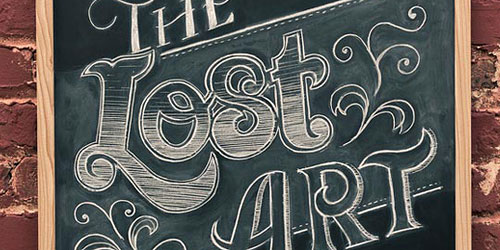 Перейти на The Lost Art Of Hand Lettering
