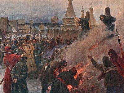 Сожжение протопопа Аввакума