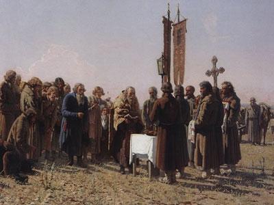 Молебен во время засухи