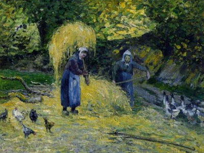 Peasants Carrying Straw Montfoucault 1875