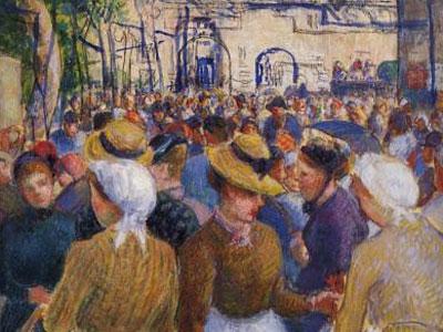 Poultry Market At Gisors 1889