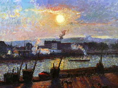 Sunset Rouen 1898