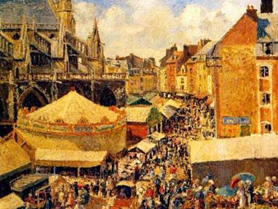 The Fair In Dieppe Sunny Morning 1901