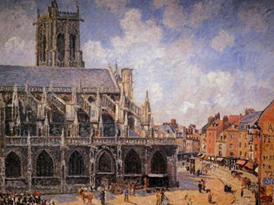 The Church Of St Jacques In Dieppe Morning Sun 1901