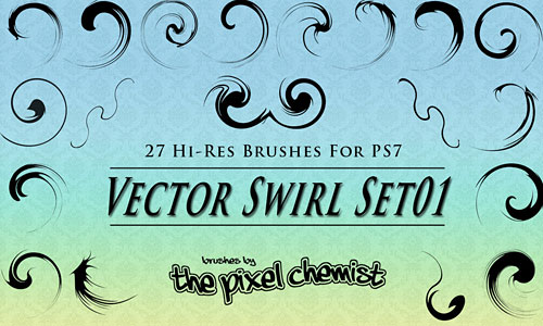 Скачать Brushes Vector Swirl Set01