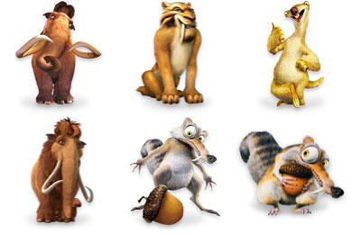 Скачать Ice Age Character Icons