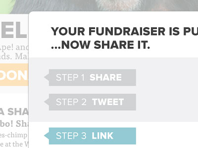 Перейти на Fundraise Share Interface