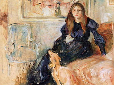 Julie Manet And Her Greyhound Laerte
