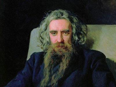 Портрет философа и поэта В. С. Соловьева