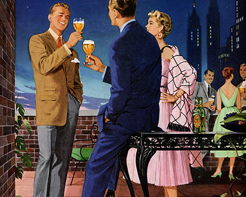 It isn't ordinarily; that's Ballantine Ale