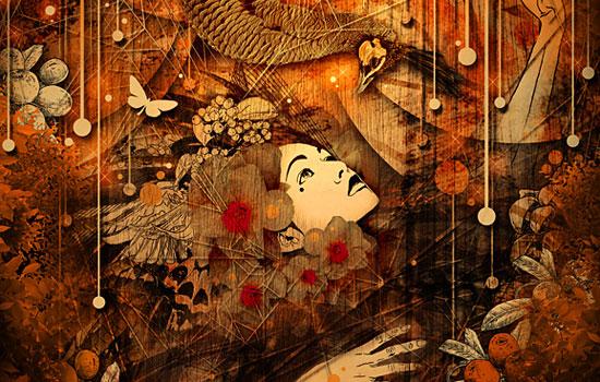 Загадочные девушки в окружении цвета от художницы Marumiyan