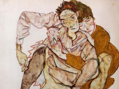 Seated Couple Egon And Edith Schiele