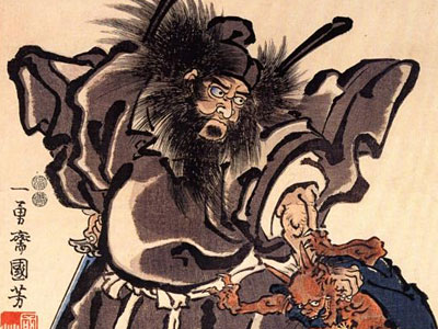 Shoki And Demon Edo Period