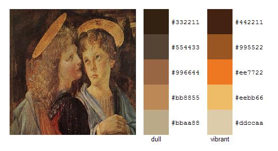 Палитра цветов с картин Леонардо да Винчи 20