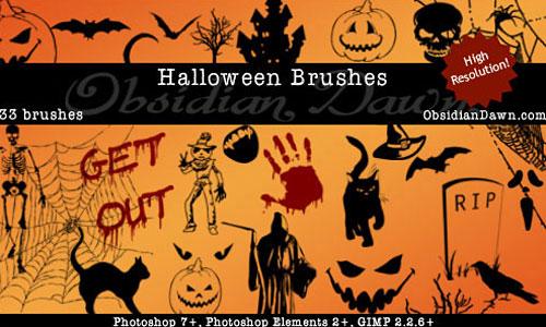 Скачать Halloween Vectors Brushes