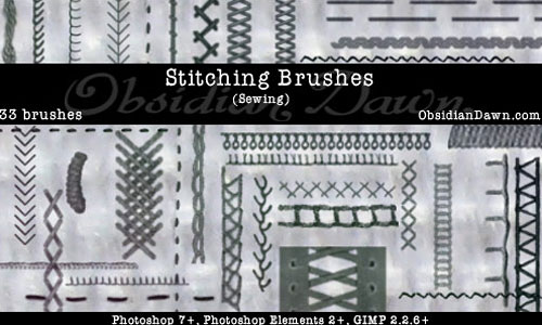 Скачать Stitching -Sewing- Ps Brushes