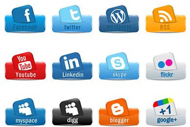 Скачать Social Media Icons Pack 1