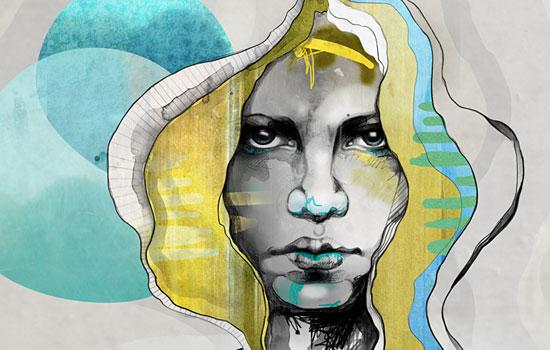 Суровые взгляды девушек от иллюстратора Sara Blake из Нью-Йорка