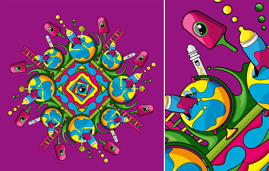 Яркое разноцветие  объемного мира от дизайнера Blindsalida