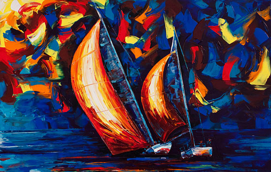 Волшебство и очарование квадратного цвета от художника Micko Vic