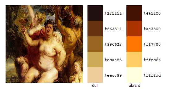 Палитра цветов с картин Рубенса 20