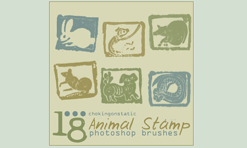 Скачать Animal Stamp Brushes