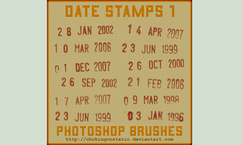 Скачать Date Stamp Brushes