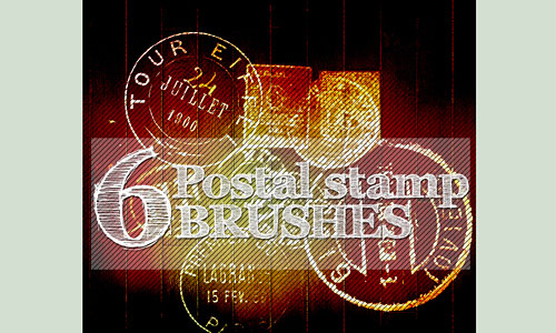 Скачать Postal Stamp Brushes