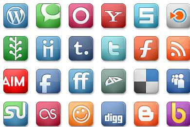 Скачать Elegant Social Media Icons