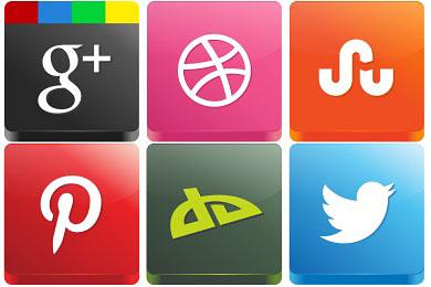 Скачать 3d Social Icons