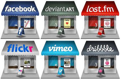 Скачать Social Store Icons
