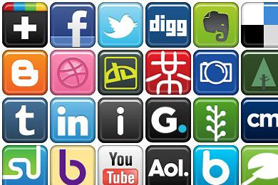 Скачать Social Bookmark Icons