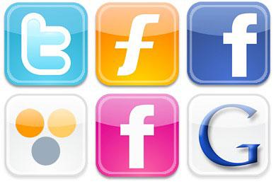 Скачать Iphone Style Social Icons
