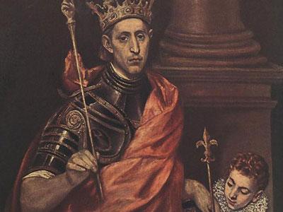 Людовик Святой, Король Франции с пажом