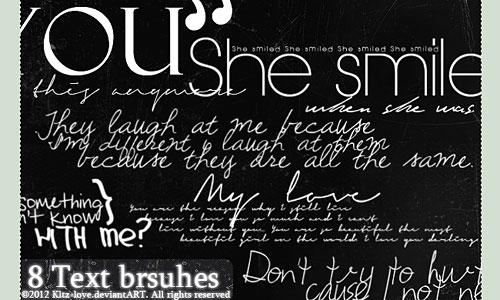 Скачать 8 Text Brushes