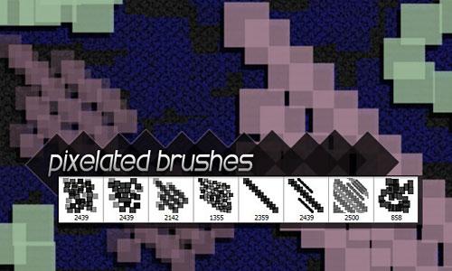 Скачать 8 Free Hi Res Pixelated Photoshop Brushes