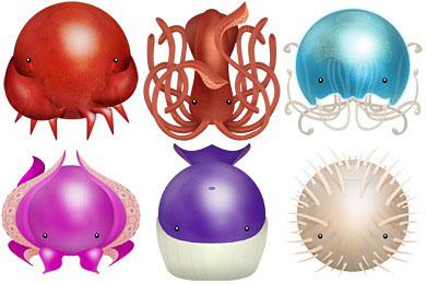 Скачать Sea Creatures Icons