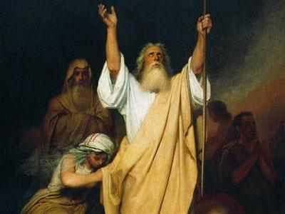 Молитва Моисея после перехода израильтян через Черное море, 1861