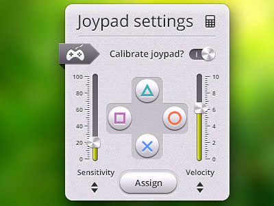 Перейти на Untitled UI Kit Sample Joypad Settings