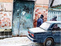 Московские дворы и улочки в иллюстрациях Алены Дергилевой